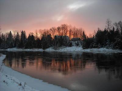 Photograph - Mississippi River Orange Dawn by Kent Lorentzen