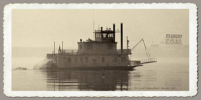Photograph - Mississippi River Paddlewheeler  1969 by Garry McMichael