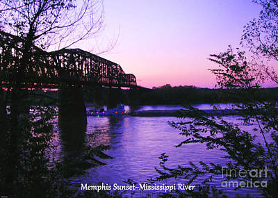 Photograph - Mississippi River Sunset At Memphis by Lizi Beard-Ward