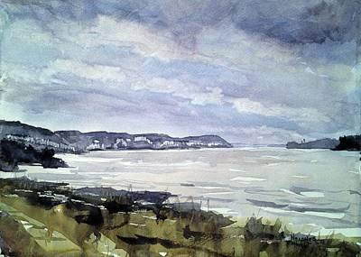 Watershed Painting - Mississippi River White Cliffs by Spencer Meagher