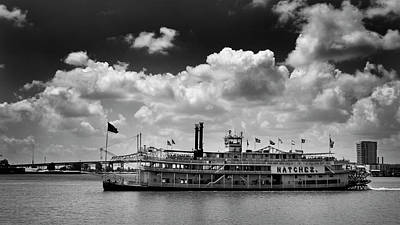 Mississippi Riverboat In Black And White Art Print