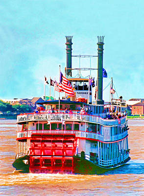 Digital Art - Mississippi Steamboat by Dennis Cox
