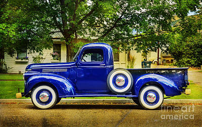 Art Print featuring the photograph Missoula Blue Truck by Craig J Satterlee