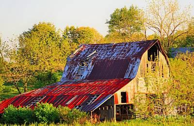 Tool Paintings - Missouri barn by Merle Grenz