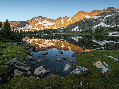 Photograph - Missouri Lakes Sunrise by Aaron Spong