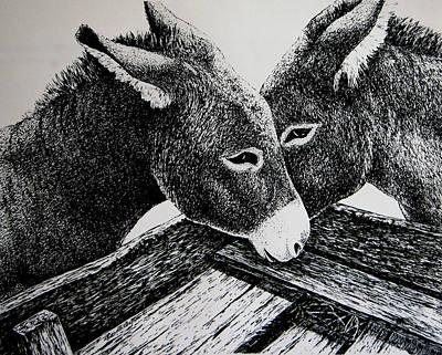 Missouri Mules Art Print by Lonnie Tapia