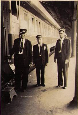 Photograph - Missouri Pacific Commuter Train Crew St. Louis Union Station by Missouri Pacific Historical Society