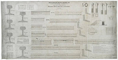 Photograph - Missouri Pacific Standard Rails And Fasteners by Missouri Pacific Historical Society