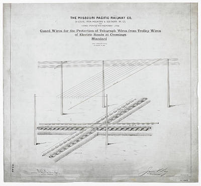 Photograph - Missouri Pacific Track Diagram by Missouri Pacific Historical Society