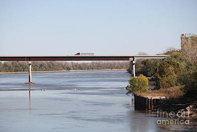 Photograph - Missouri River At Boonville by Anthony Cornett