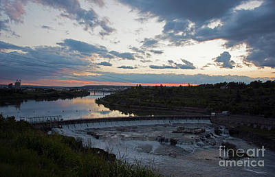 Photograph - Missouri River Black Eagle Falls Mt by Cindy Murphy - NightVisions