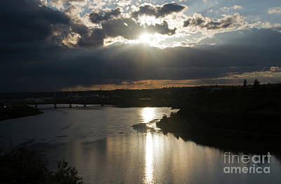 Photograph - Missouri River Great Falls Mt by Cindy Murphy - NightVisions