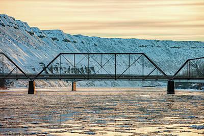 Photograph - Missouri River Ice by Todd Klassy