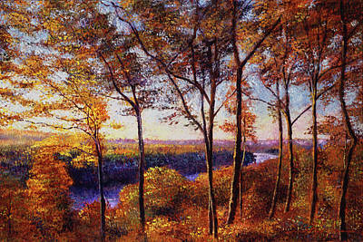 Vista Painting -  Missouri River In Fall by David Lloyd Glover