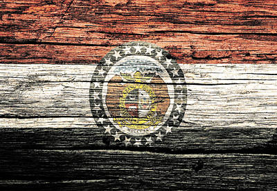 Old Glory Mixed Media - Missouri State Flag 2w by Brian Reaves