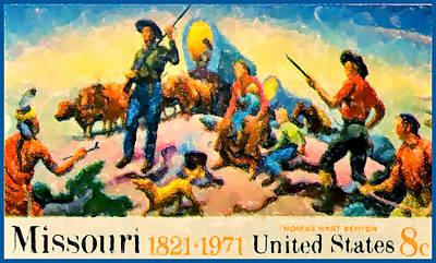 Missouri Statehood Sesquicentennial Art Print