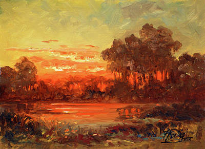 Sunset Painting - Missouri Sunset by Irek Szelag