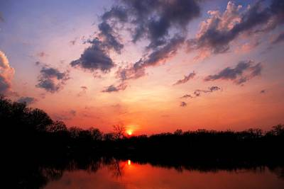 Photograph - Missouri Sunset Lake Reflection by Matt Harang