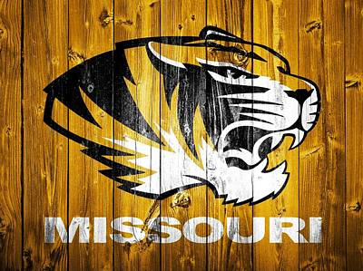 The Tiger Digital Art - Missouri Tigers Barn Door by Dan Sproul