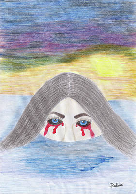 Tears Drawing - Missunderstood by Adina Art