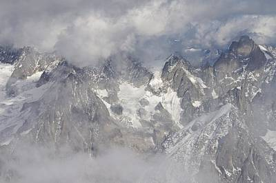 Photograph - Mist And Clouds At Auiguille Du Midi by Stephen Taylor
