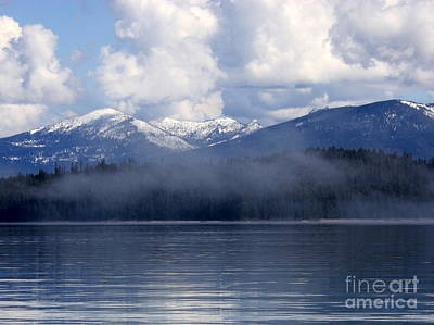 Photograph - Mist And Clouds Over Priest Lake by Carol Groenen