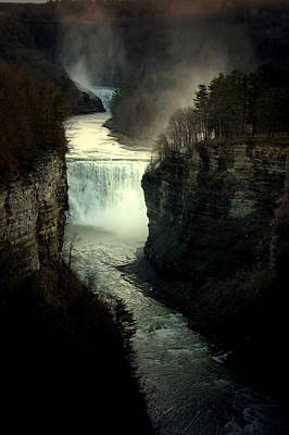Mist And The Falls Art Print
