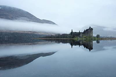 Photograph - Mist Around Kilchurn Castle by Stephen Taylor