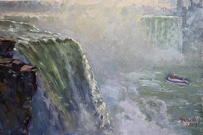 Mist Painting - Mist At Horseshoe Falls  by Ylli Haruni