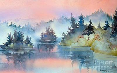 Painting - Mist At Sunrise by Teresa Ascone
