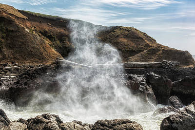 Photograph - Mist Creature Rising From Spouting Horn by Belinda Greb