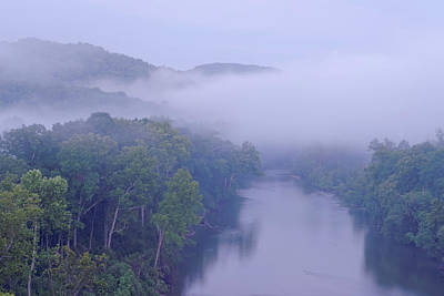 Photograph - Mist Of The Current River. by Robert Charity
