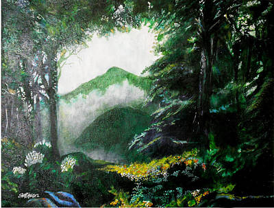 Painting - Mist On The Mountain by Seth Weaver