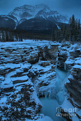 Photograph - Mist Over Frozen Athabasca Falls by Adam Jewell