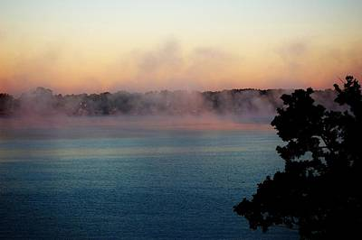 Photograph - Mist Over Lake Conroe Texas by David Lane