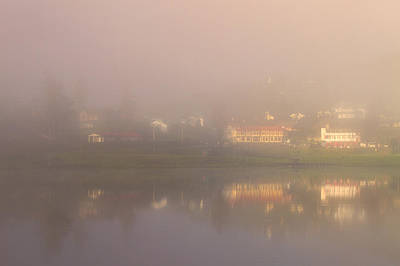 Photograph - Mist Over Lake Gregory by Hitendra SINKAR