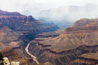 Photograph - Mist Over The Canyon by Ed Gleichman