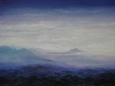 Mist Over The Mountains Art Print by Jeff Knott