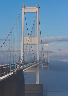 Mist Over The Severn Print by Brian Roscorla