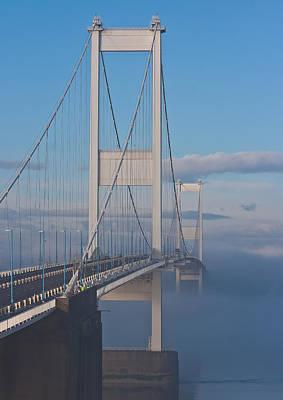 Mist Over The Severn Art Print by Brian Roscorla