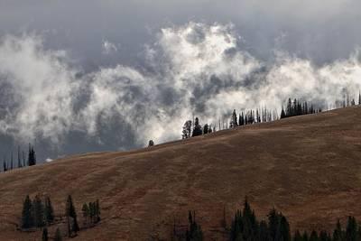 Yellowstone Photograph - Mist Ridge by David Andersen
