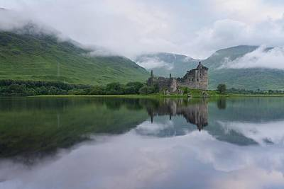Photograph - Mist Swarms Around Kilchurn Castle by Stephen Taylor