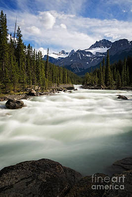 Photograph - Mistaya River  In Banff National Park by Bryan Mullennix