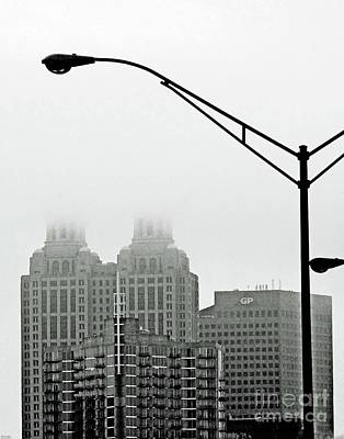 Photograph - Misted Atlanta Downtown by Lizi Beard-Ward