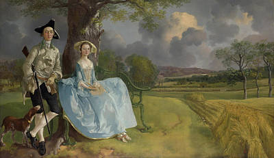 English Painting - Mr And Mrs Andrews by Thomas Gainsborough