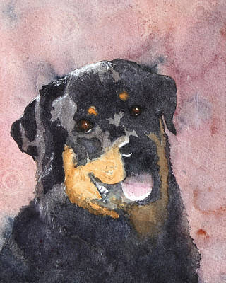 Rottweiler Painting - Mister Bob by Ally Benbrook