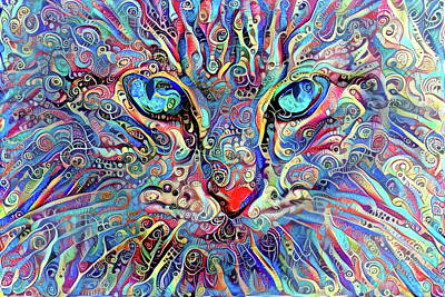 Digital Art - Mister Cat Nip by Peggy Collins