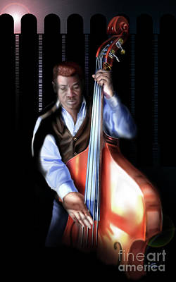 Painting - Mister Charles About That Bass by Reggie Duffie