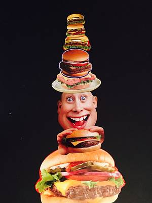 Mixed Media - Mister Cheese Burger by Douglas Fromm