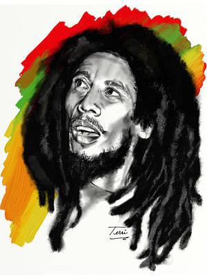 Rasta Drawing - Mister Marley by Terri Meredith